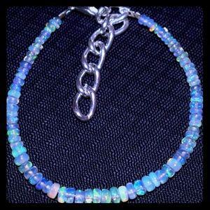 Jewelry - 100% Genuine Ethiopian Opal&German Silver Bracelet